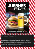 Ofertas de TGI Fridays, Juernes muy Fridays