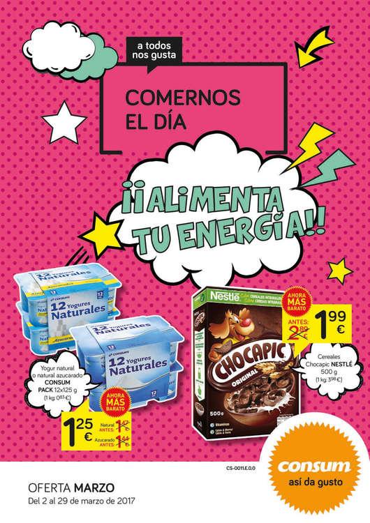 Ofertas de Consum, ¡¡Alimenta tu energía!!