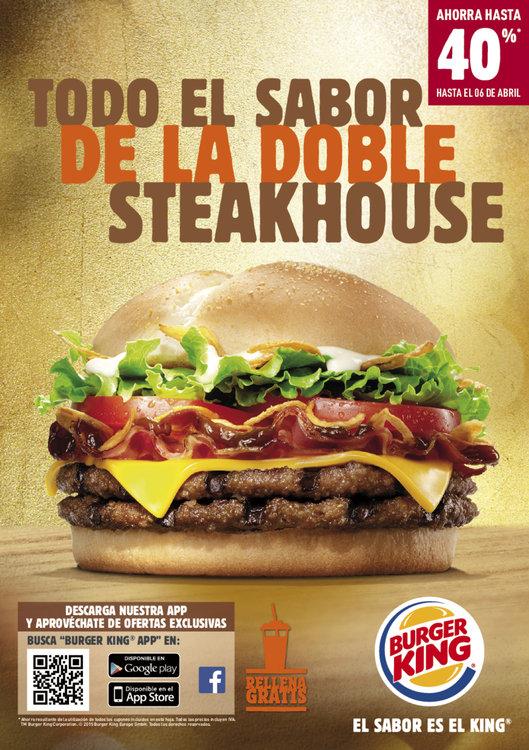 Ofertas de Burger King, Todo el sabor de la doble Steakhouse