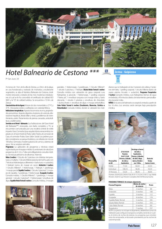 Ofertas de Nautalia, Balnearios y Spas 2015