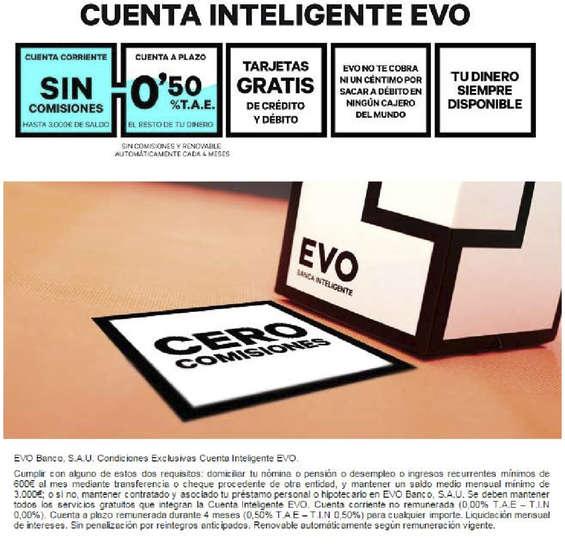 Ofertas de Evo Banco, Cuenta intenigente