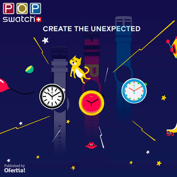 Ofertas de Swatch, Create the unexpected
