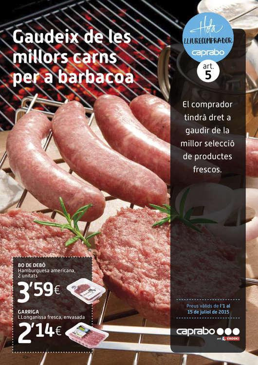 Ofertas de Caprabo, Gaudeix de les millors carns per a barbacoa