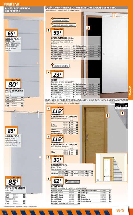 Comprar puerta corredera barato en madrid ofertia for Puertas correderas bricomart