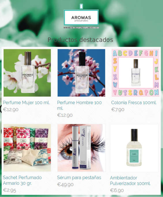 Ofertas de Aromas Artesanales, Productos destacados