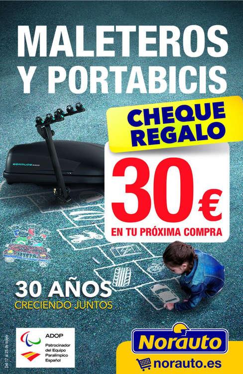 Ofertas de Norauto, Cheque regalo 30€ en maleteros y portabicis