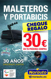 Cheque regalo 30€ en maleteros y portabicis