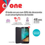 Ofertas de Vodafone, O todo en un cun 20% de desconto e un smartphone de balde