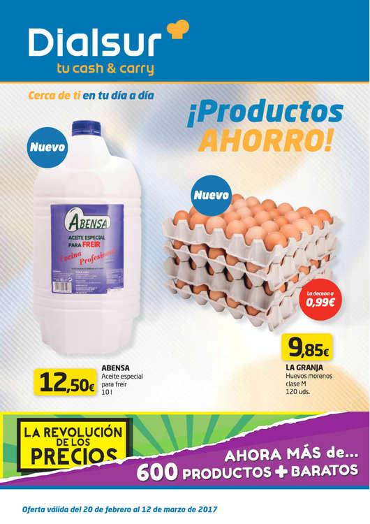 Ofertas de Cash&Carry Dialsur, ¡Productos ahorro!