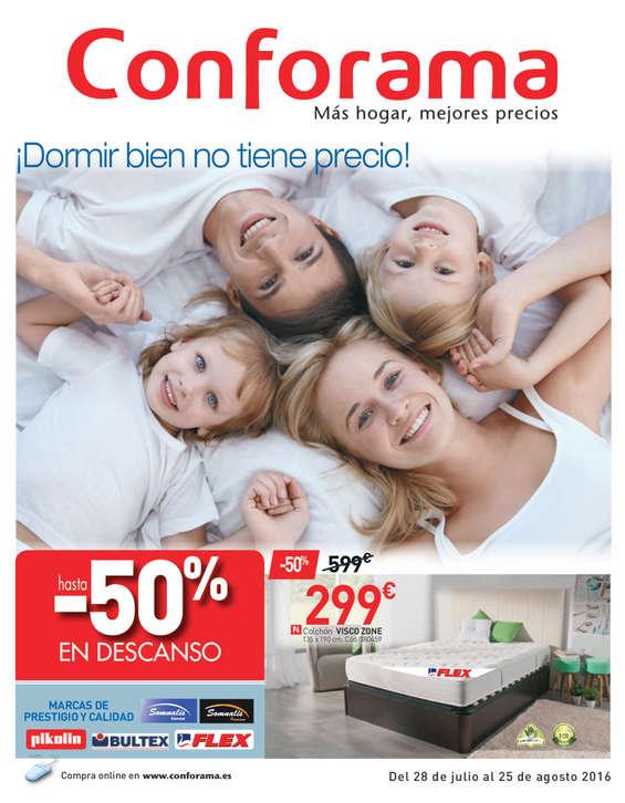 Ofertas de Conforama, ¡Dormir bien no tiene precio!