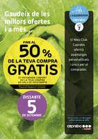 Ofertas de Caprabo, 50% de la teva compra, gratis