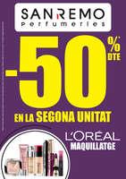 Ofertas de Perfumerías San Remo, -50% dte. en la segona unitat