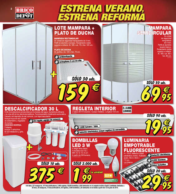Comprar ofertas platos de ducha muebles sofas spain for Mamparas ducha bricodepot