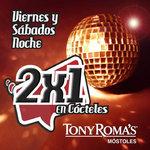 Ofertas de Tony Romas, 2x1 en Cócteles