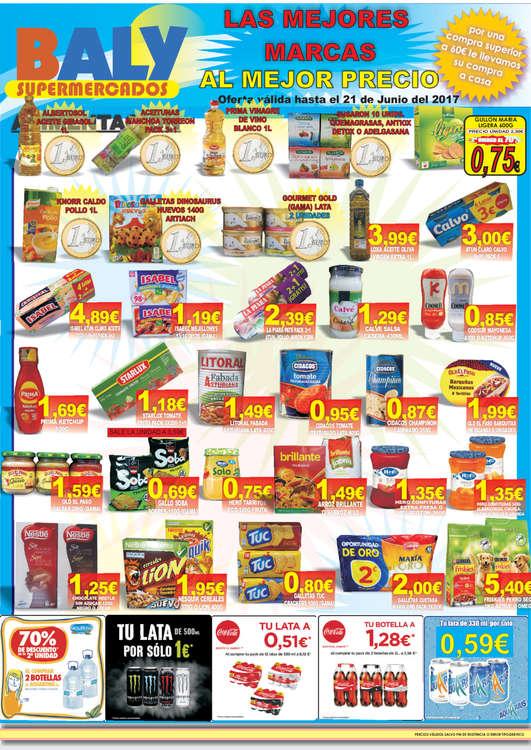 Ofertas de Baly Supermercados, Las mejores marcas