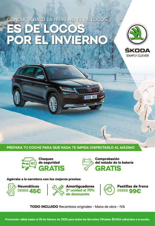 Ofertas de SKODA, Conducir bajo la nieve es de locos por el invierno