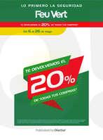 Ofertas de Feu Vert, Te devolvemos el 20% de todas tus compras*