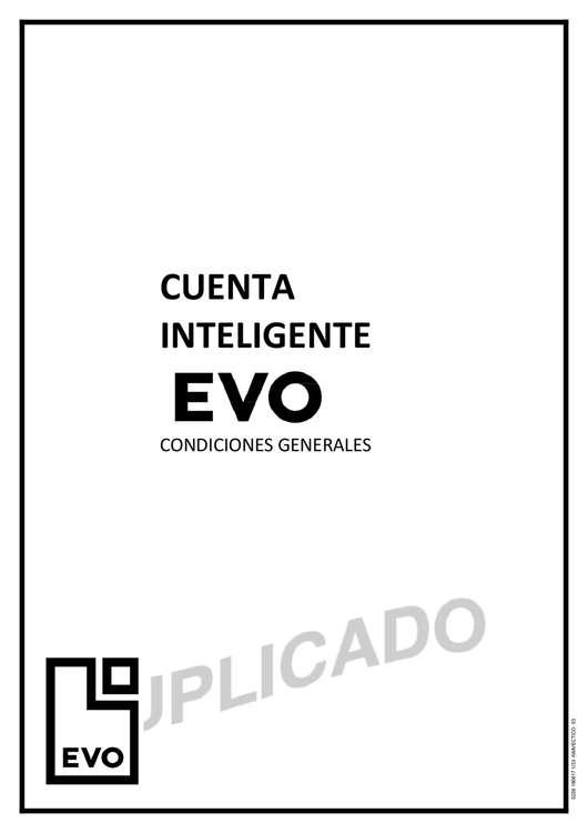 Ofertas de Evo Banco, Cuenta inteligente EVO