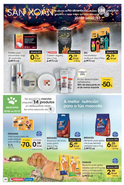 Ofertas de Eroski Center, - 2ª unidade -70% en los produtos sinalados -