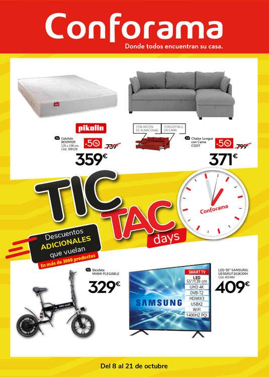 Ofertas de Conforama, Tic Tac Days. Descuentos adicionales que vuelan