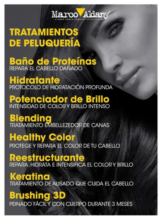 Ofertas de Marco Aldany, Tratamientos de peluquería