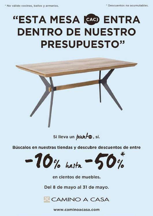 """Ofertas de Camino A Casa, """"Esta mesa entra dentro de nuestro presupuesto"""""""