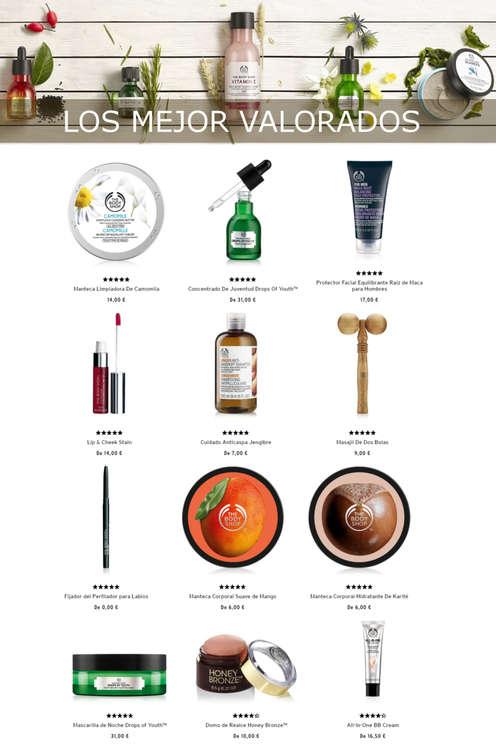 Ofertas de The Body Shop, Los mejor valorados
