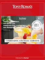 Ofertas de Tony Romas, Combinados, cócteles y cervezas