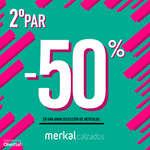 Ofertas de Merkal, 2º par -50%