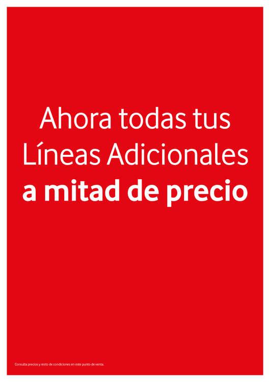 Ofertas de Vodafone, Ahora todas las líneas adicionales a mitad de precio