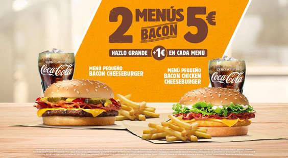 Ofertas de Burger King, 2 menús bacon