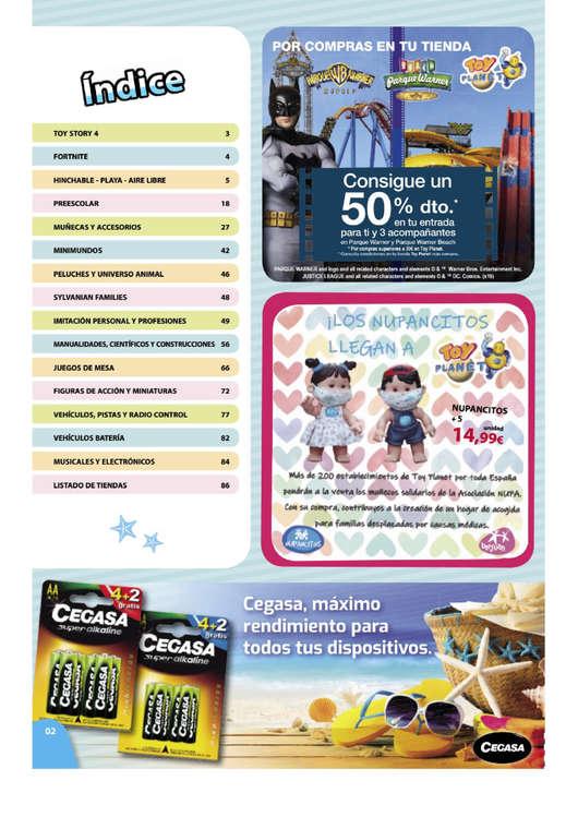 Ofertas de Toy Planet, Verano 2019