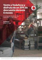 Ofertas de Vodafone, Vente a Vodafone y disfruta de un 20% de descuento durante 6 meses.