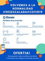 Ofertas de Viajes Ecuador, Medidas de prevención #Desescalada