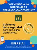 Ofertas de McDonald's, Cuidamos de tu seguridad para que sigas disfrutando #Desescalada