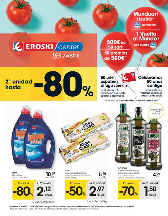 Ofertas de Eroski Center, 2a unidad hasta el -80% - Eroski Center