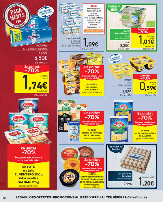 Ofertas de Carrefour, 2a unitat -70% en més de 1.500 articles