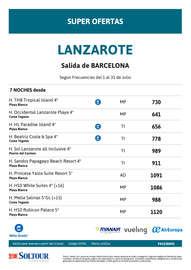 Super ofertas para Lanzarote