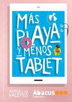Ofertas de Abacus, Más playa y menos tablet