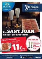 Ofertas de La Sirena, Per Sant Joan un àpat per tirar coets!