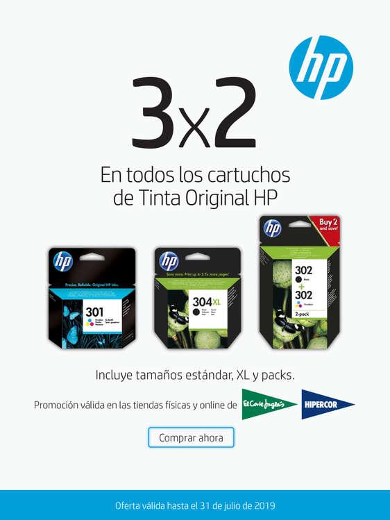 Ofertas de HP, 3x2 En cartuchos originales HP