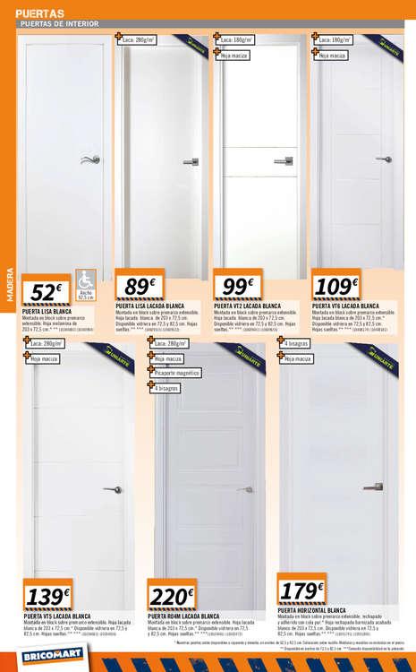 Ofertas puertas interior trendy oferta puertas interior for Puertas bricomart