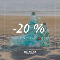 -20% en todos los artículos de playa
