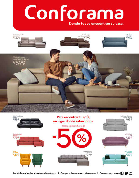 Ofertas de Conforama, Descuentos hasta el 50%