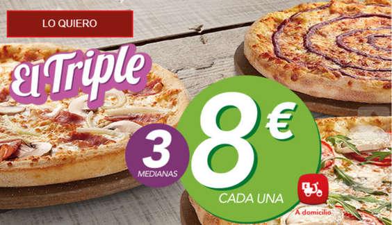 Ofertas de Telepizza, El triple