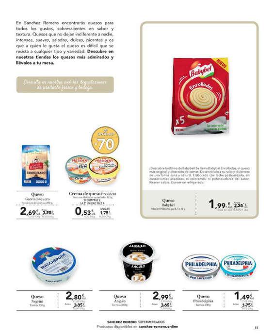 Ofertas de Supermercados Sánchez Romero, almagourmet septiembre