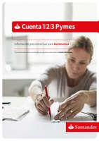 Ofertas de Santander, Información precontractual de la Cuenta Pymes