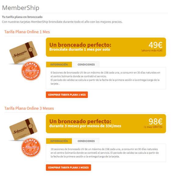 Ofertas de Solmanía, Membership