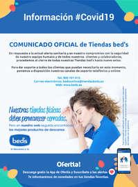Comunicado oficial de tiendas Bed's #Covid19