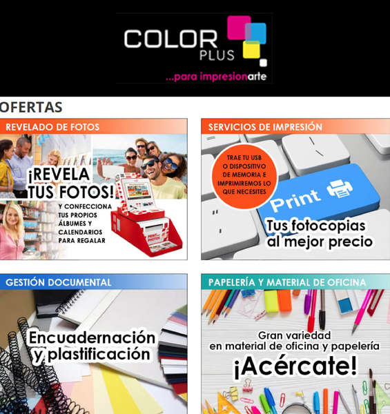 Ofertas de Color Plus, Ofertas Color Plus